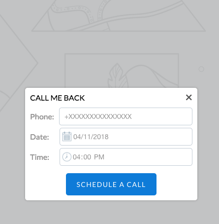 Callback request form for Shopify