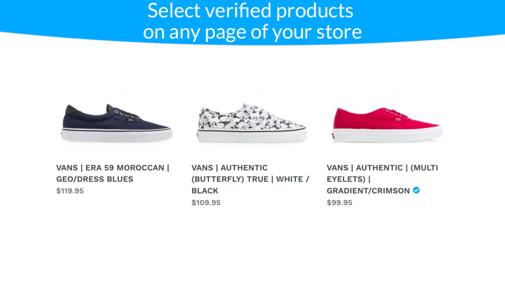 verified product is now selected and attracts visitors more than other similar products