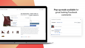 popup mode setting for Facebook Comments – Shopify